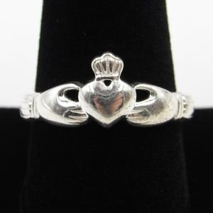 Vintage Size 10.25 Sterling Irish Claddagh Ring